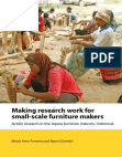 Study on Making research work for small-scale furniture makers