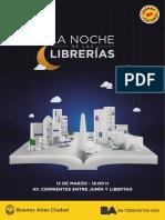 Programación Noche de Las Librerías