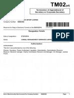 Eleonora Sports Termination of Cargil Management Services