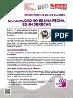 2205287-Comunicado 8 de Marzo Día Internacional de Las Mujeres