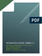 Integrated School Forms V2 Manual