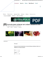 Formula Para Ordenar Em Ordem Alfabetica Excel - Microsoft Office - Forum Do BABOO