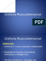 Disfonia Musculotensional