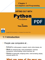 Starting out with Python - Chapter 1 PPT