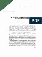 El Derecho Común Medieval en Las Bibliotecas de Galicia