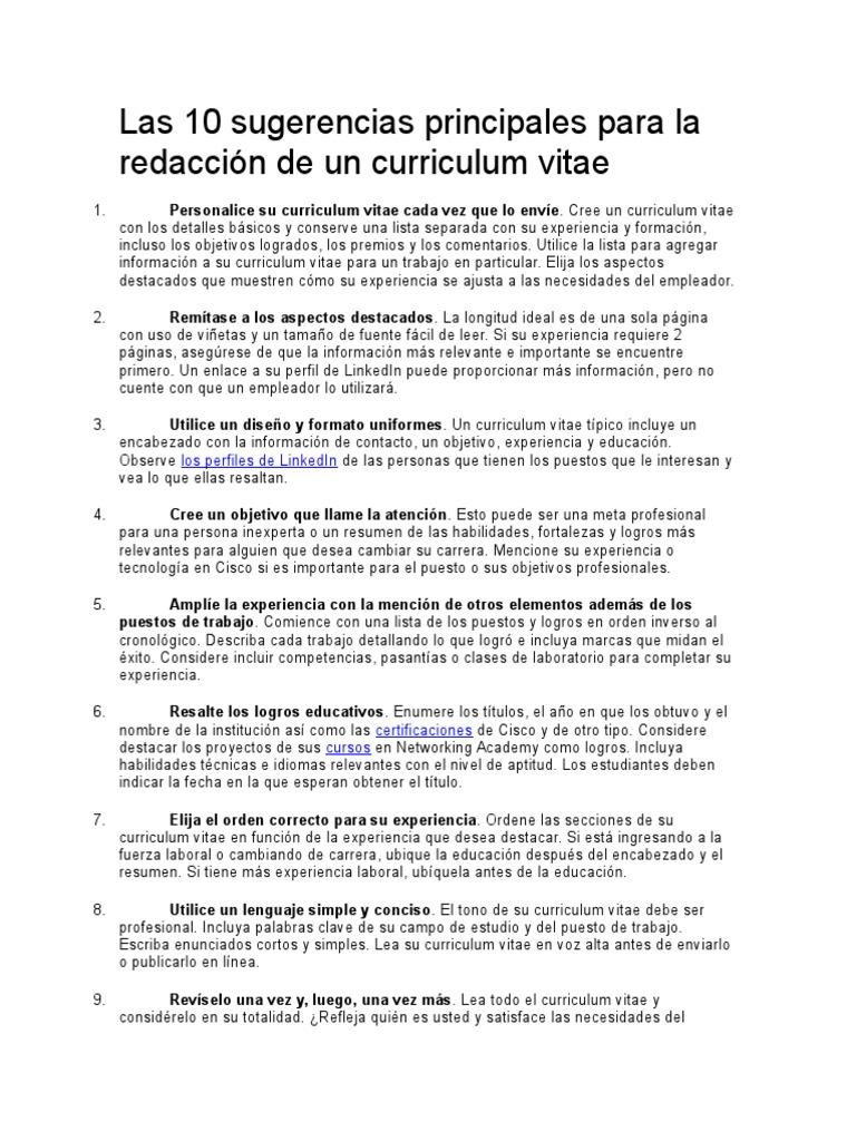 Moderno Actualización De Curriculum Vitae En Linkedin Cresta ...