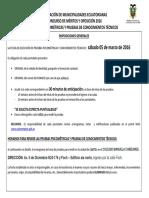Cronograma Pruebas AME 05032016