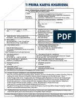Surat Perjanjian Angkutan Laut - Multi Prima 2