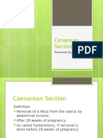 Cesarean Section Report Richard Lim