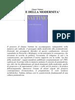 Gianni Vattimo - La Fine Della Modernità