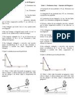 Lista I - 1 Bimestre - Teorema de Pitágoras
