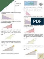 Lista II - Relaçoes Trigonometricas