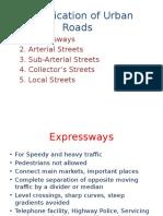 classification of urban roads