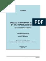 Cálculo Esperanza de Vida en Comunas de Chile