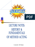 Method Acting Lecture Notes