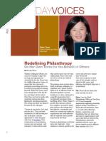 Redefining Philanthropy