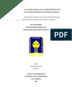 Evaluasi Pelaksanaan Progam Pelayanan Obstetri Neonatal Emergensi Dasar (Poned)