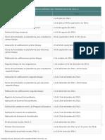 Calendario Escolar Semestral 2015-2