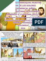 HOJITA EVANGELIO  DOMINGO  IV CUARESMA C