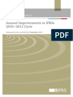 Annual Improvements to IFRSs 2010-2012 Cycle ED