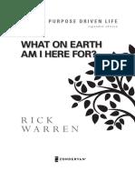 Chapter 1 PDL Rick Warren