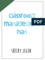 complete classroom management plan