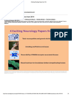 4 Exciting Neurology Papers From 2014 - Smoking and Parkinson Disease and Reversibility of NMDA Receptor Associated Disease