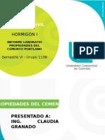 presentacion propiedades del cemento hidraulico