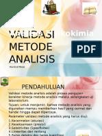 Kuliah 5 Validasi Metode Analisis