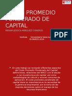 Costo Promedio de Capital