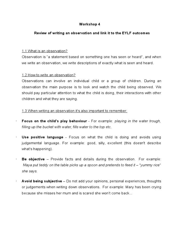 examples of judgemental statements