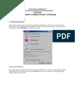 Powerpoint Tutorial