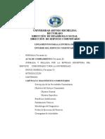 Lineamientos Para El Informe (PSICOLOGÍA)