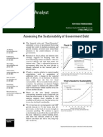 Sustainability of Govt Debt