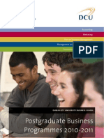 DCU Business School Postgraduate Brochure 2010