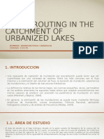 Flood Routing in the Catchment of Urbanized Lakes