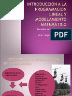 Introducción a la programación lineal y modelamiento Matemático