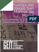 La Huelga en El Colegio San Marcos - GEIT