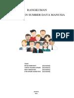 Rangkuman Manajemen Sumber Daya Manusia Stratejik