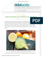 Zumo de Limón Para Eliminar El Cansancio