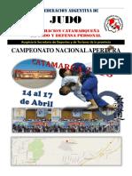 Reglamento Nacional Apertura Catamarca 2016