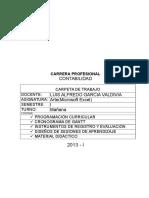 Silabus de Microsoft Excel - Contabilidad