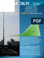 Oem 2kw Wind Power Generator (Flyer) Current Stock of 2kw-2