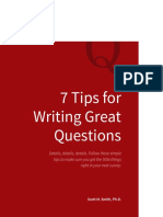 7 Tips for Writing Great Questions