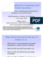 The OECD Approach to Measuring Social and Health Expenditure