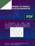 Three-Phase to Single-Phase Cycloconverter