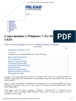 Como Instalar o Windows 7, 8 e Windows 10 Em Modo UEFI