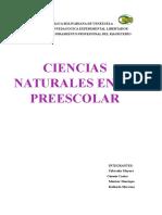Ciencias Naturales en Preescolar
