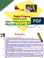 Paulo Freire philosophy on education