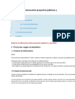 Proyectos Publicos y Privados
